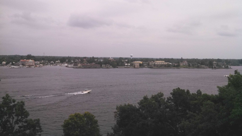Alexandria Bay from the 6th floor balcony
