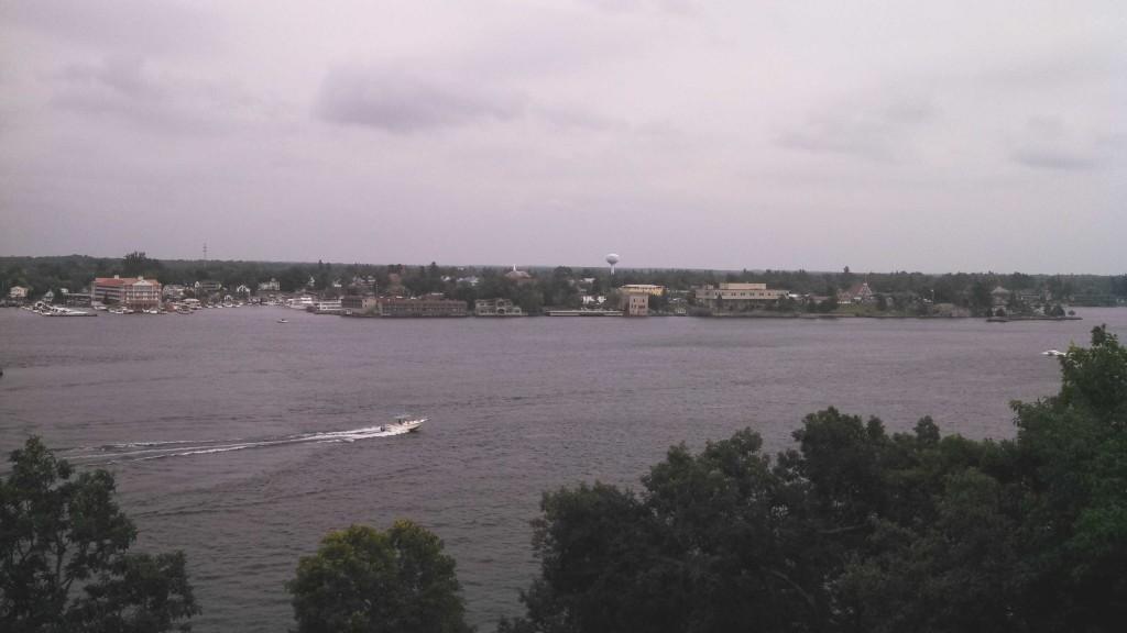 Alexandria Bay from the 6th floor balcony