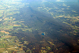 South Mountain from the air